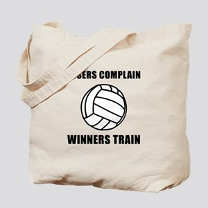 Volleyball Winners Train Tote Bag