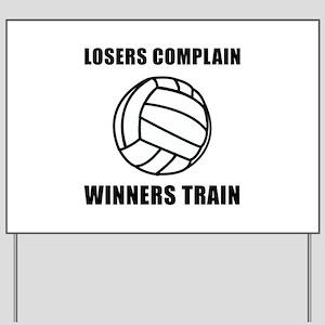 Volleyball Winners Train Yard Sign