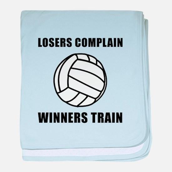 Volleyball Winners Train baby blanket