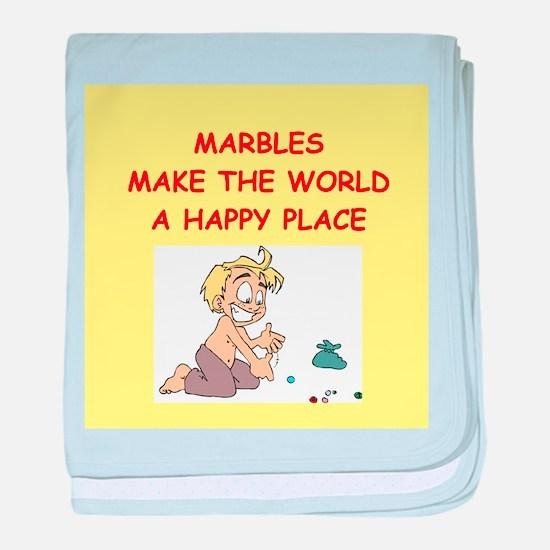 marbles baby blanket