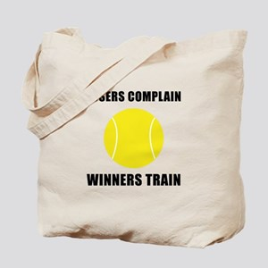 Tennis Winners Train Tote Bag