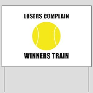 Tennis Winners Train Yard Sign
