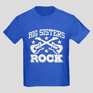 Big Sisters Rock Kids Dark T-Shirt