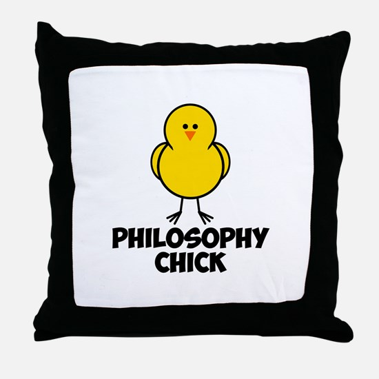 Philosophy Chick Throw Pillow
