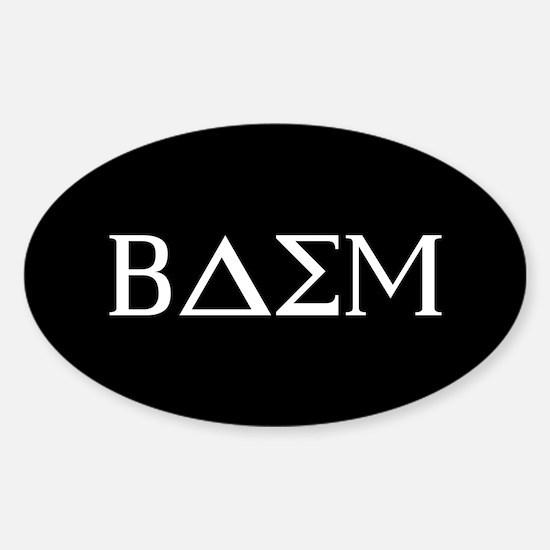 Beta Delta Sigma Mu Sticker (Oval)