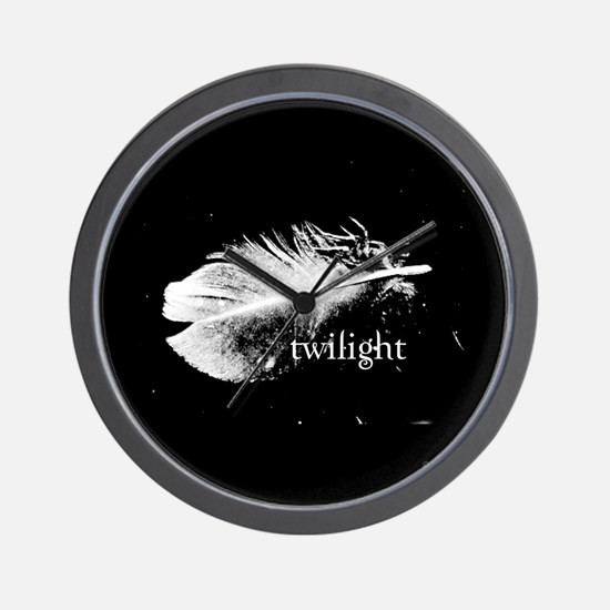 Twilight Feather by Twibaby Wall Clock