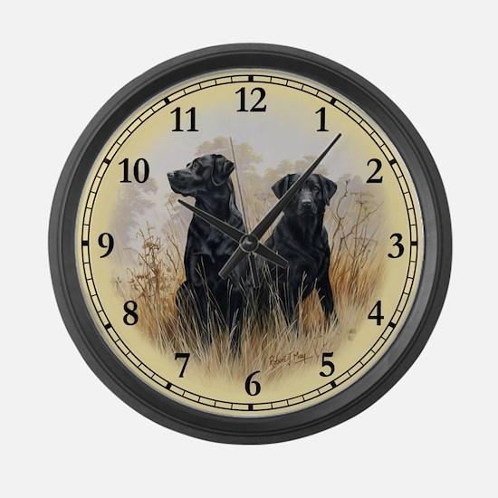 Labrador Retriever (black) Large Wall Clock