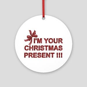 CHRISTMAS PRESENT Ornament (Round)