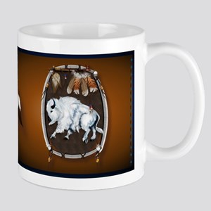 White Buffalo Shield Mug