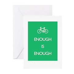 Enough Is Enough var Bike Greeting Cards (Pk of 20