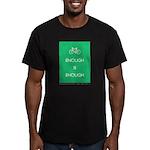 Enough Is Enough var Bike Men's Fitted T-Shirt (da
