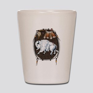White Buffalo Shield Shot Glass