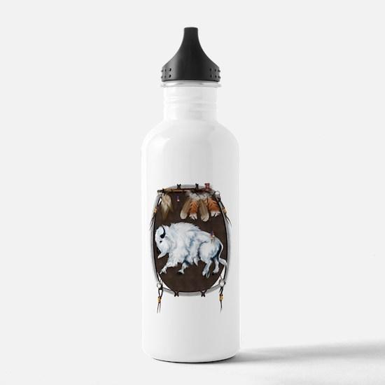 White Buffalo Shield Water Bottle