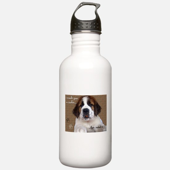 St Bernard Puppy Cookie Water Bottle