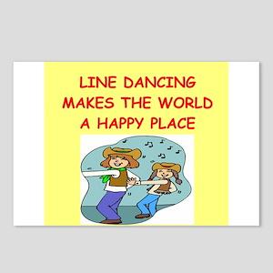 line dancing Postcards (Package of 8)