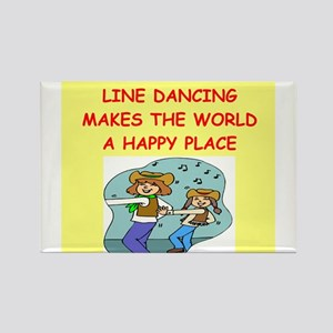 line dancing Rectangle Magnet