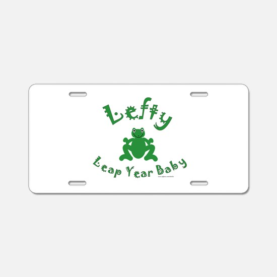 Left Handed Leap Year Aluminum License Plate
