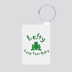 Left Handed Leap Year Aluminum Photo Keychain