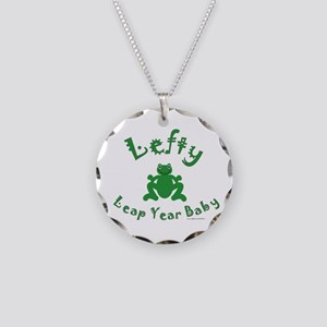 Left Handed Leap Year Necklace Circle Charm