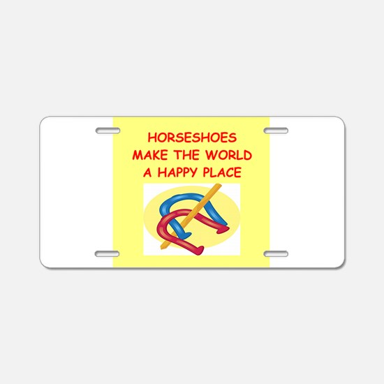 hirseshoes Aluminum License Plate