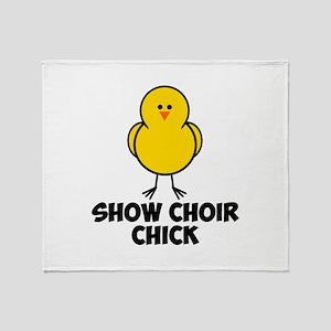Show Choir Chick Throw Blanket