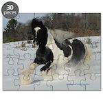 Winter Gypsy Stallion Puzzle