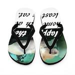 Happy Cat Flip Flops
