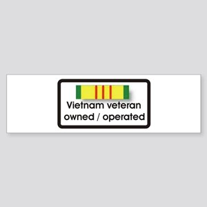 Vietnam Veteran owned and ope Sticker (Bumper)