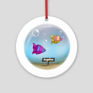 Under the Sea - Fish Bowl Design Ornament (Round)