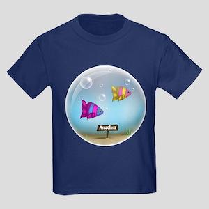Under the Sea - Fish Bowl Design Kids Dark T-Shirt