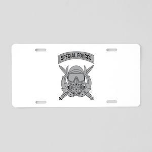 Combat Diver Supervisor w Tab Aluminum License Pla
