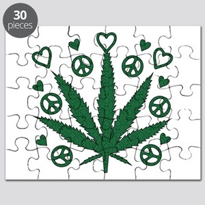 Peace Love Weed Puzzle