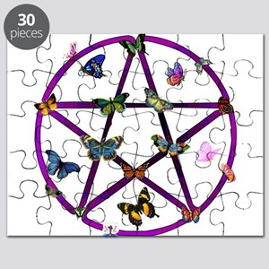 Wiccan Star and Butterflies Puzzle