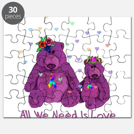 Purple Love Bears Puzzle