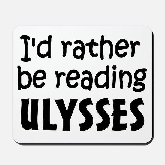 Reading Ulysses Mousepad