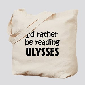 Reading Ulysses Tote Bag