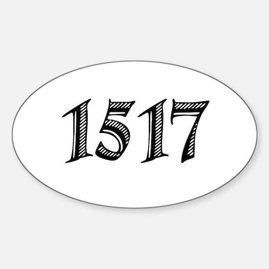 1517 Sticker (Oval)