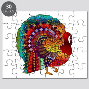 Thanksgiving Jeweled Turkey Puzzle