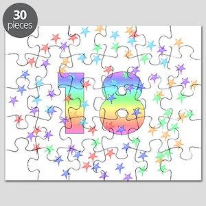 18th Birthday Pastel Stars Puzzle