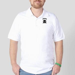 Combat Diver w Tab B-W Golf Shirt