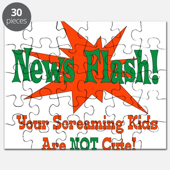 Screaming Kids NOT Cute Puzzle