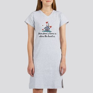 Mom Mom's Home is Where the H Women's Nightshirt