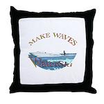 Water ski Throw Pillow