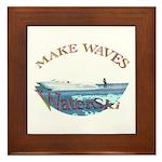 Water ski Framed Tile