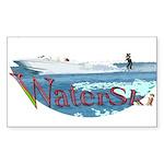 Water ski Sticker (Rectangle 10 pk)