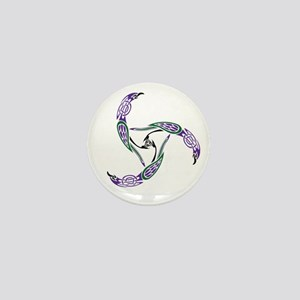 Knotwork Ravens Mini Button