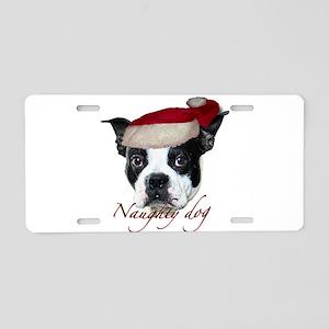 Naughty Dog Aluminum License Plate