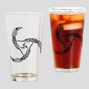 Knotwork Ravens Drinking Glass