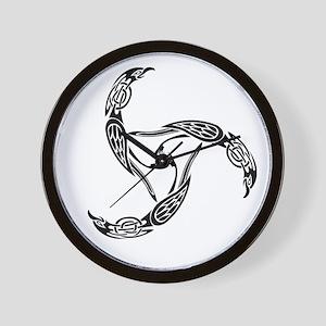 Knotwork Ravens Wall Clock