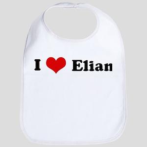 I Love Elian Bib